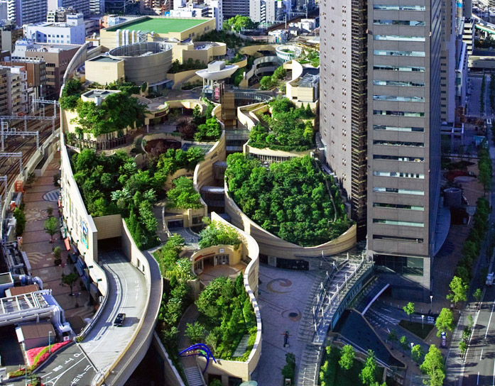 Namba Parks Rooftop Garden