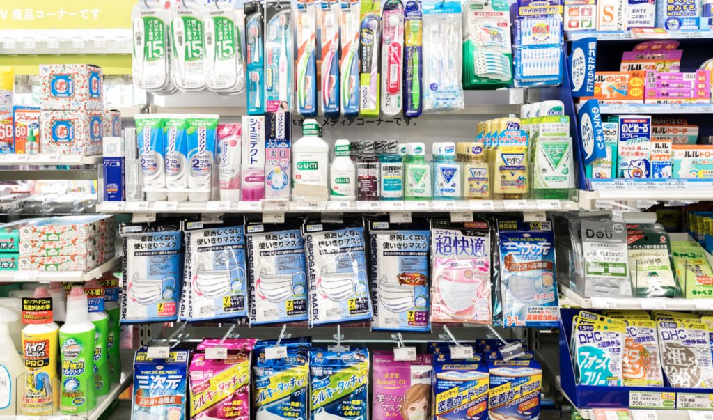 japan convenience store toiletries and cosmetics