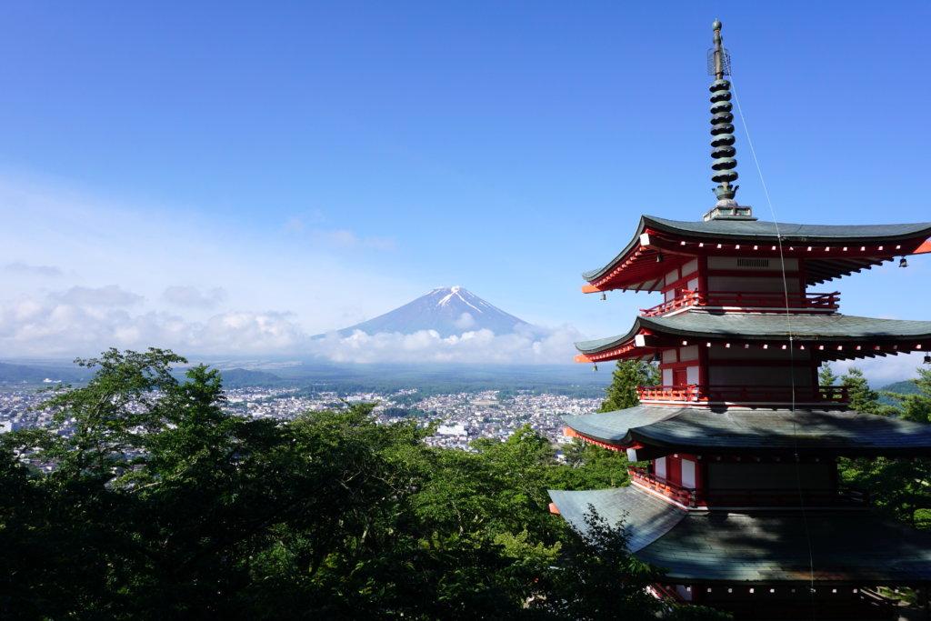 fuji view chureito pagoda
