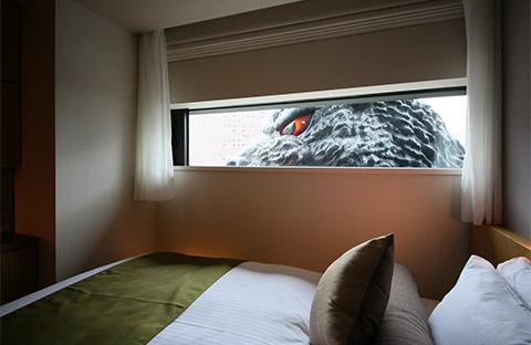 Godzilla hotel Shinjuku tokyo