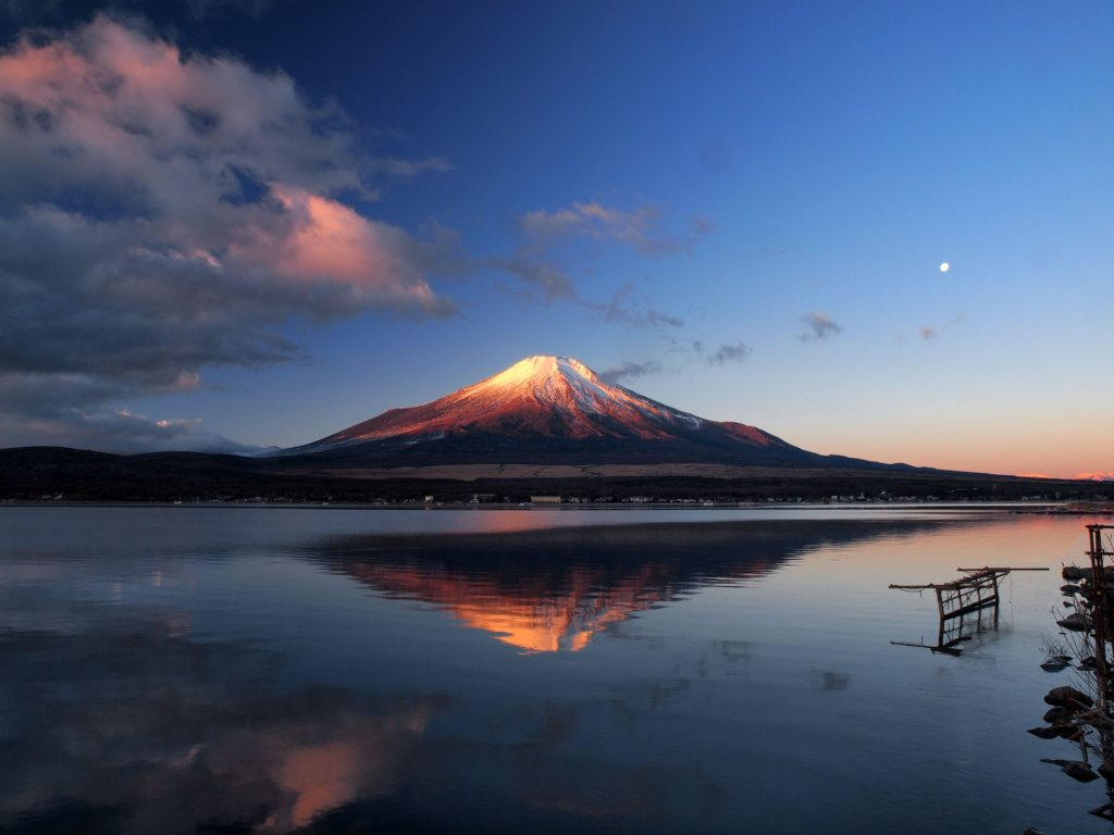 lake yamanakako sunrise mt fuji view spot