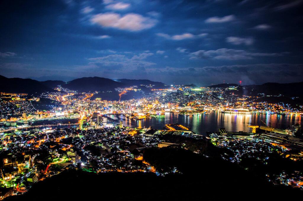 mount inasa ten million dollar night view Nagasaki