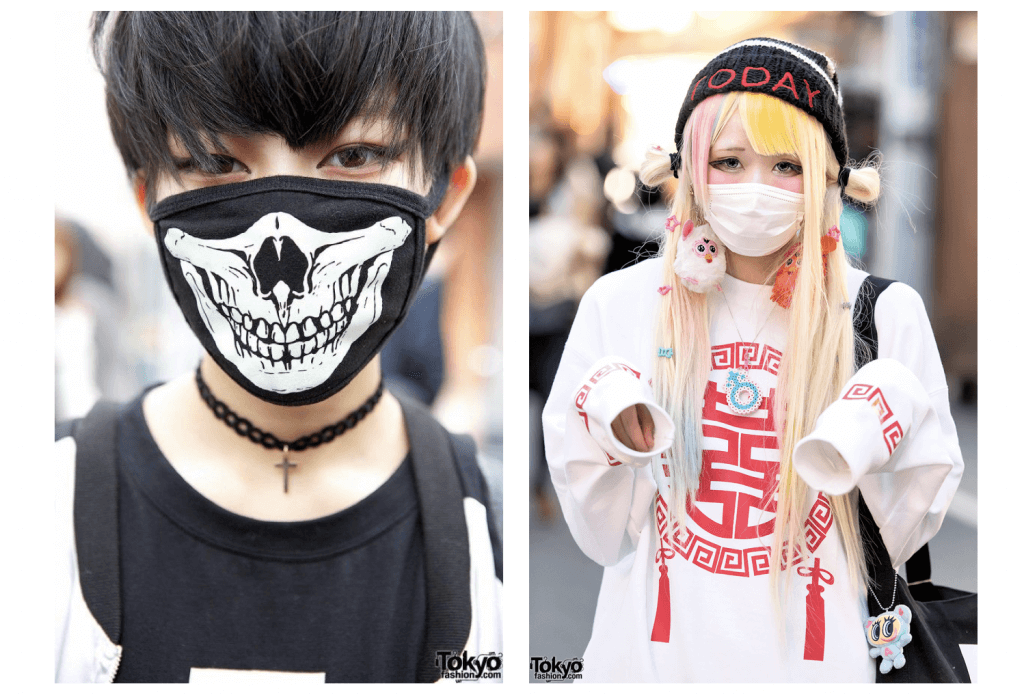fashion masks in Japan