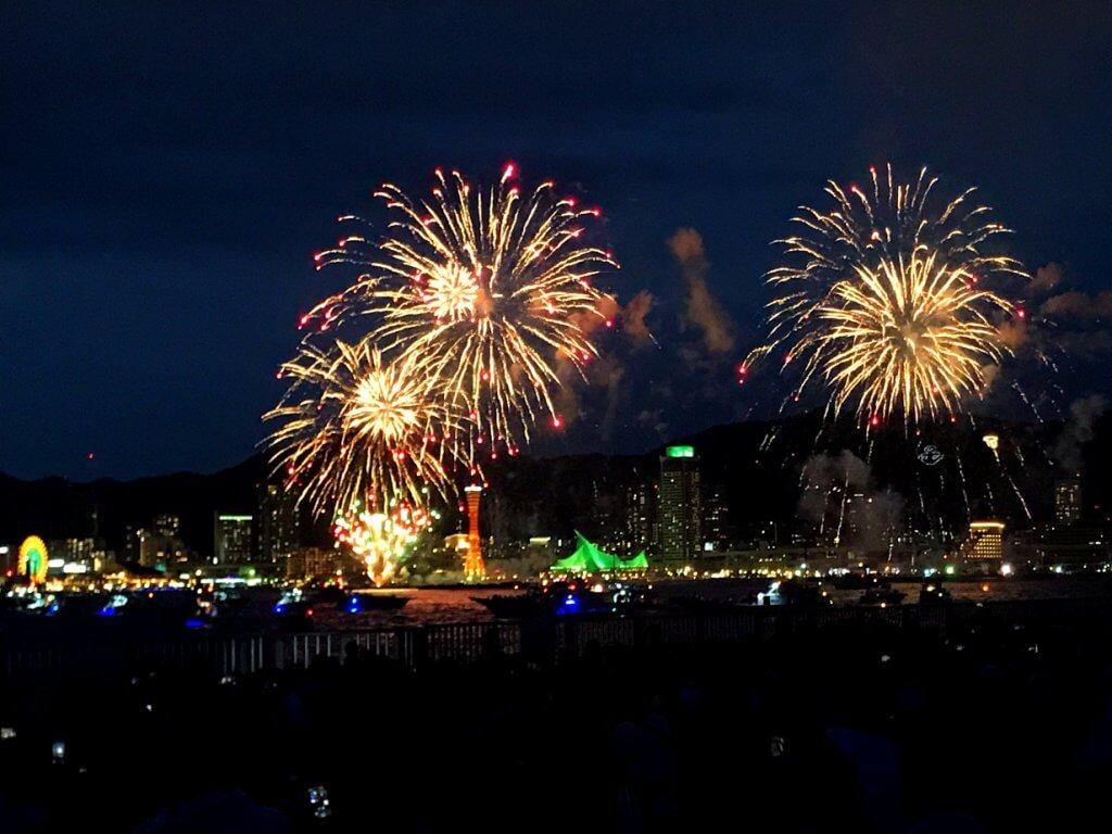 Kobe Minato Port Fireworks