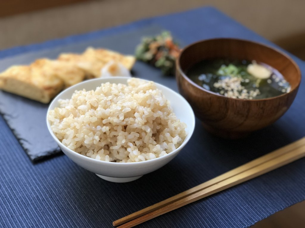 japanese meal with rice