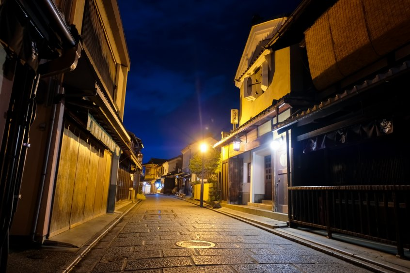night street in kyoto