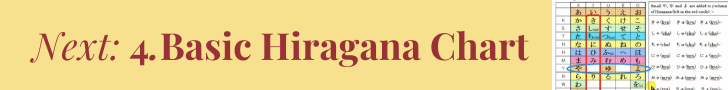 Basic Hiragana Chart
