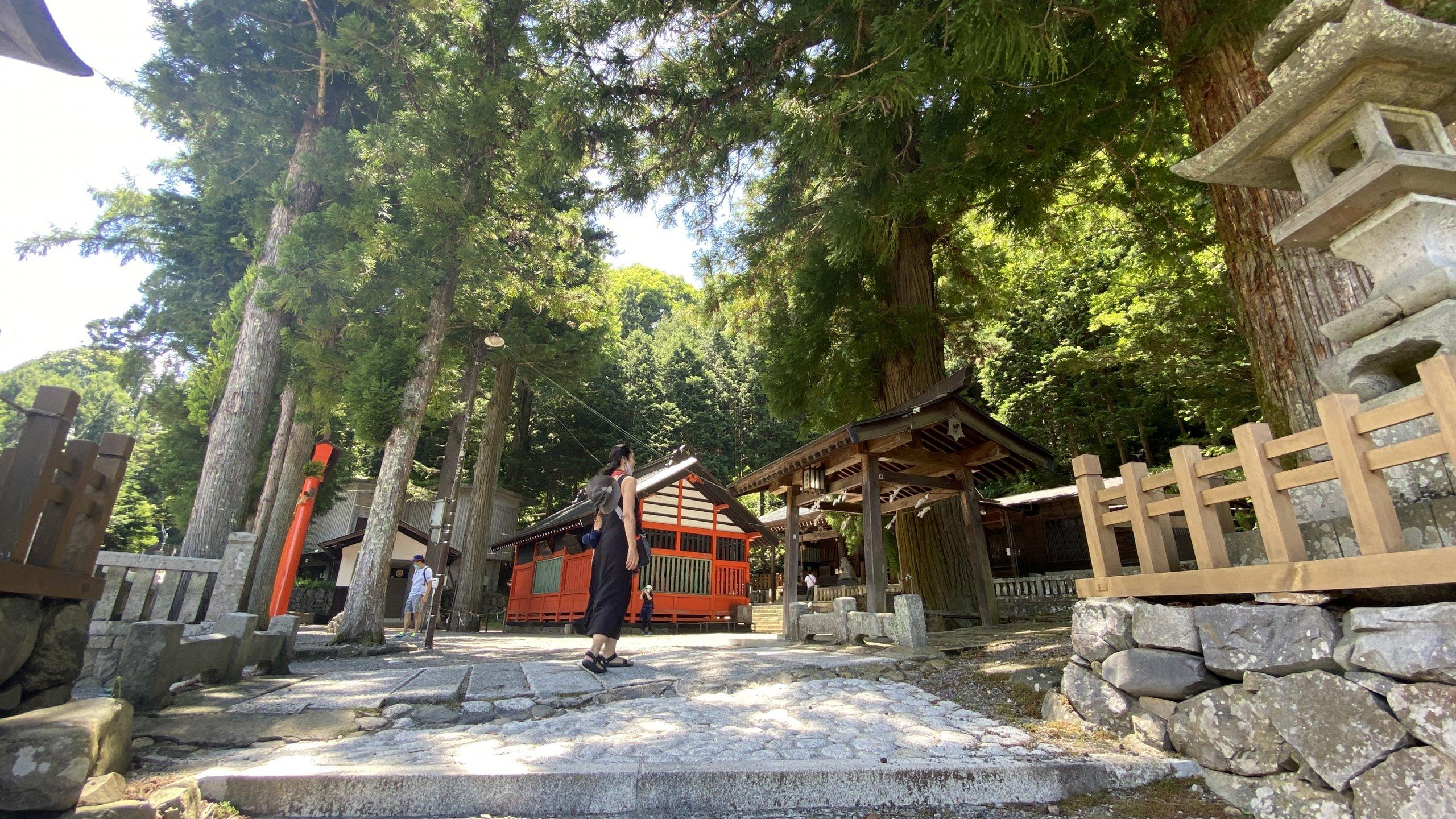 Shizume shrine, Narai-juku kisoji nakasendo
